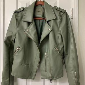 Ladies green motorcycle jacket